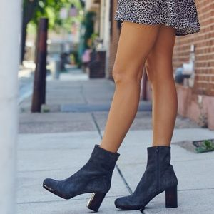 Free People Platform Suede Ankle Boots
